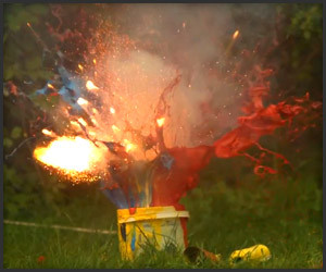 Slow-Mo Paint Explosions