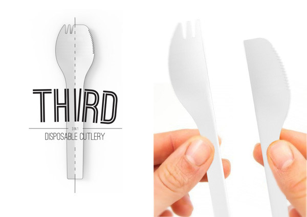 THIRD: 3-in-1 Cutlery