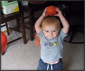 2-Year-Old's Basketball Trick Shots