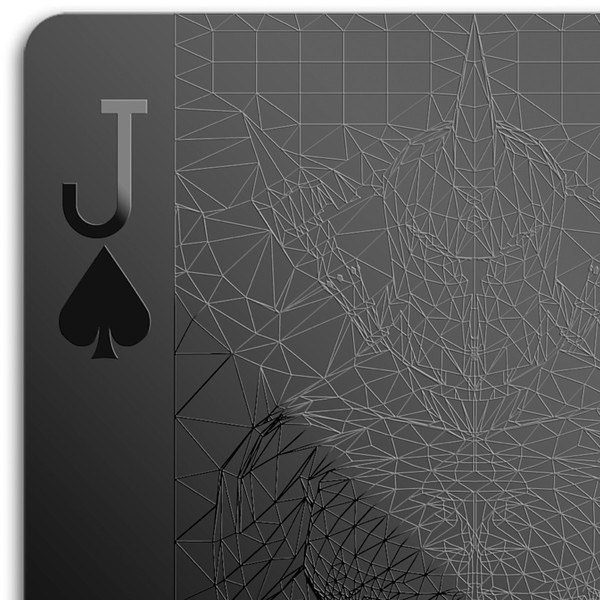 All Black Playing Cards