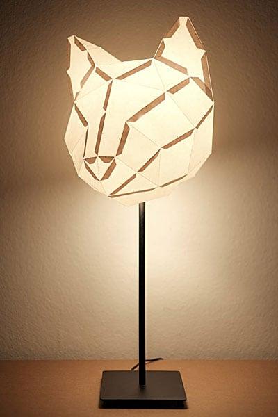 Foldable Animal Lampshades