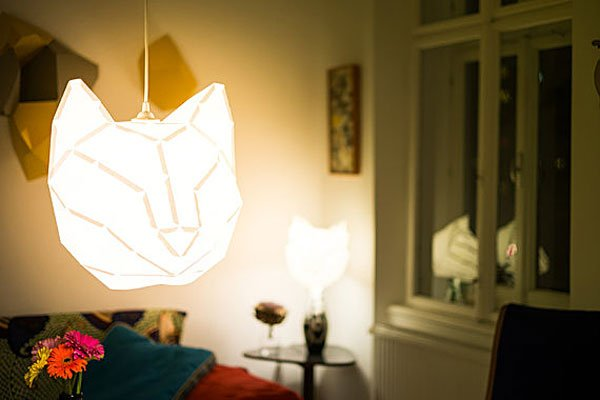 Foldable Animal Lampshades