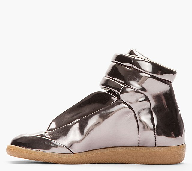 MMM Metallic Pewter Sneakers