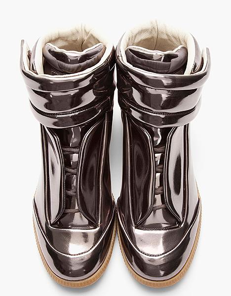 MMM Metallic Pewter Sneakers