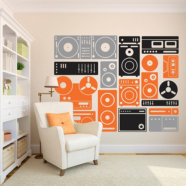 turn up the music wall decals the awesomer removable wall stickers amp cheap vinyl wall art decals for