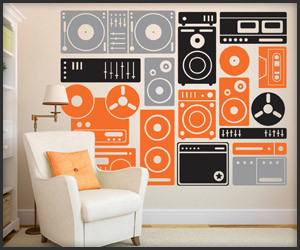 Turn up the Music Wall Decals