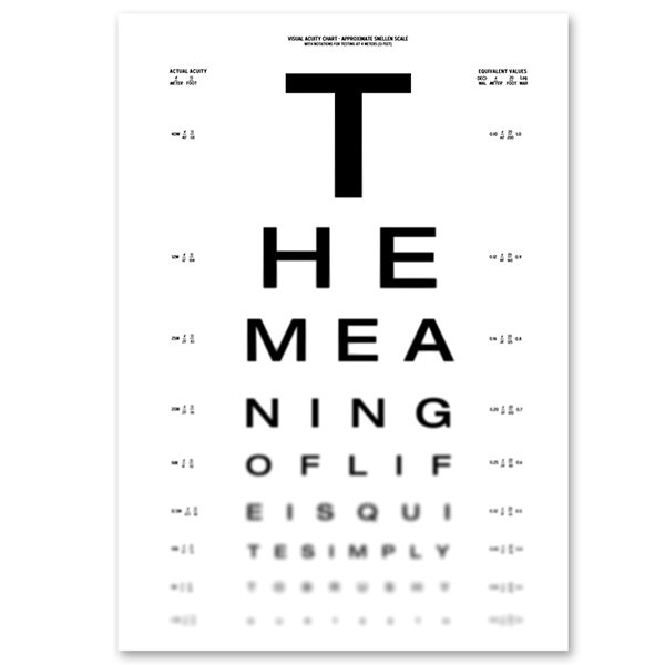 The Meaning of Life Eye Chart