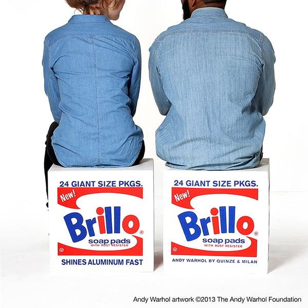 Andy Warhol Brillo Pouf