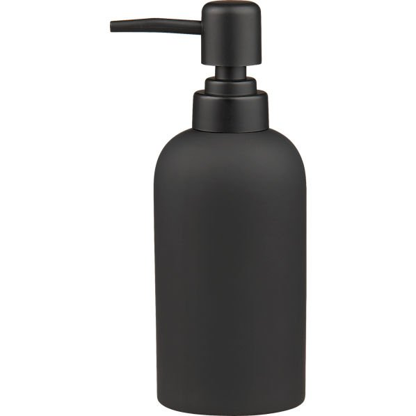 Black Rubber Soap Pump