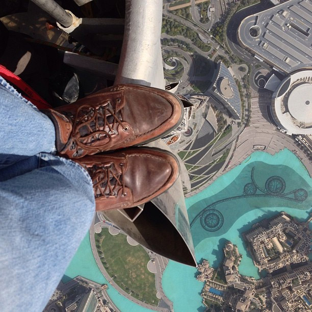 Standing on the Burj