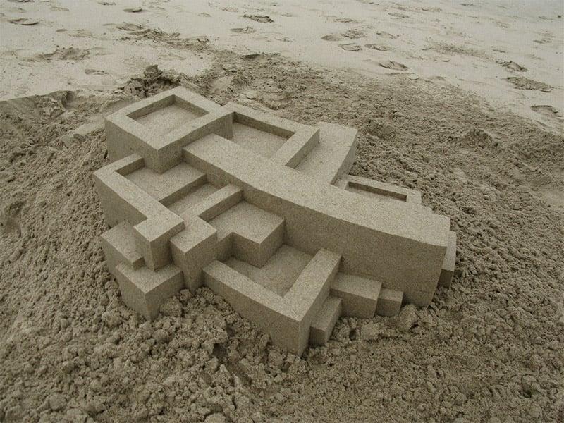 Geometric Sand Sculptures