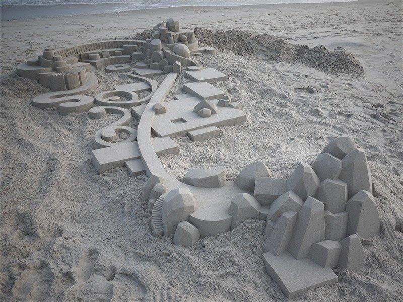 Geometric Sand Sculptures
