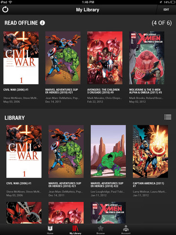 Marvel Unlimited for iOS