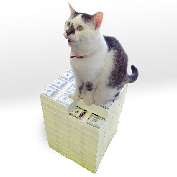 Stack of Cash Ottoman