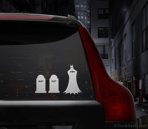 Batman Family Car Decal