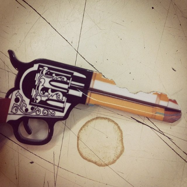 Cowboy Gun Door Key