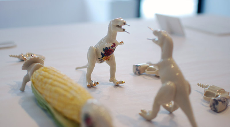 Dino Corn Cob Holders