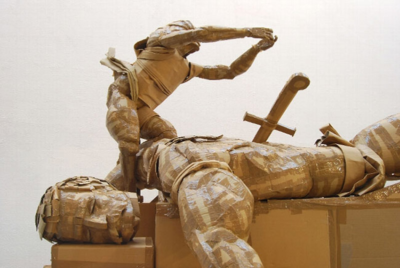 Intricate Cardboard Sculptures