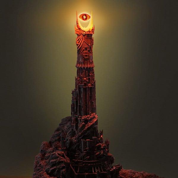 Eye Of Sauron Desk Lamp The Awesomer
