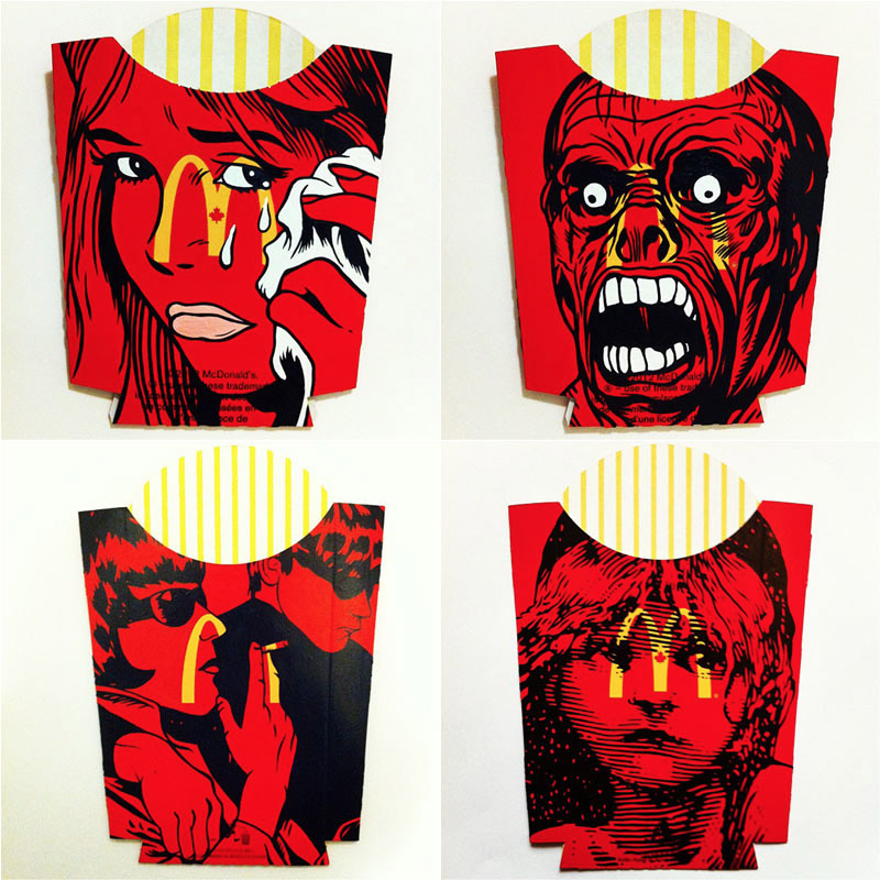 French Fry Package Art