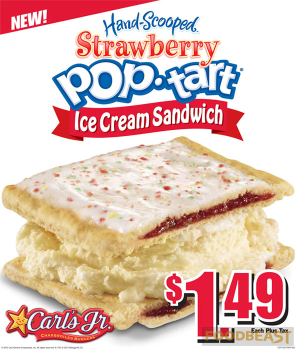 Pop-Tart Ice Cream Sandwich