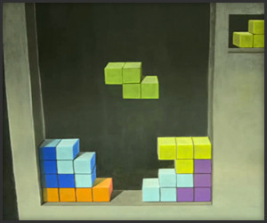 Stop Motion Chalk Tetris