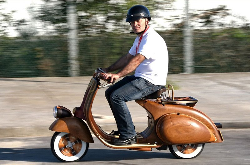 Custom Wood Vespa