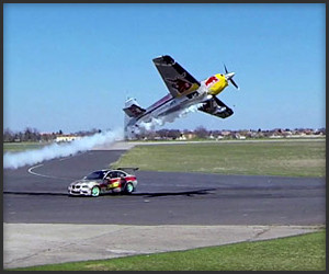 Car vs. Plane Drift Battle