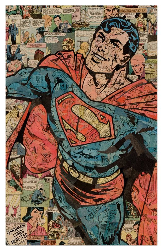 Comic Collage Digital Art Prints