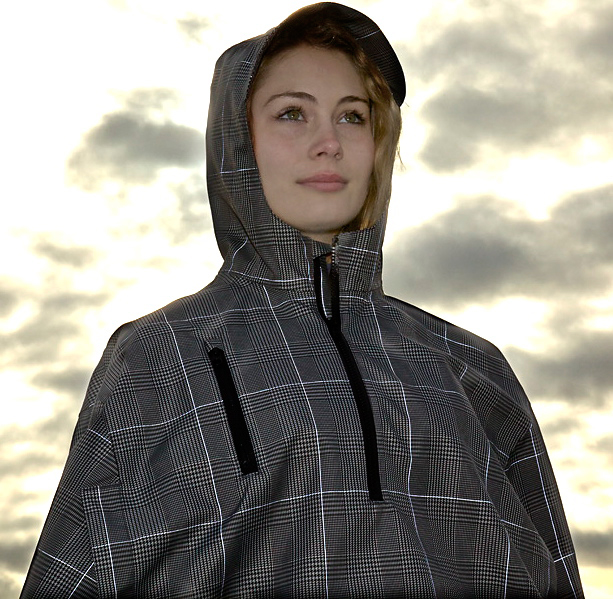 Electric Houndstooth Rain Cape