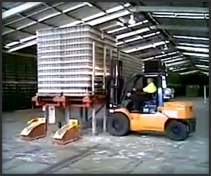 Forklift vs. 2,000 Bottles