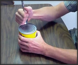 How to Open a Can with a Spoon