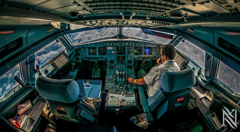 Airline Cockpit Photographs