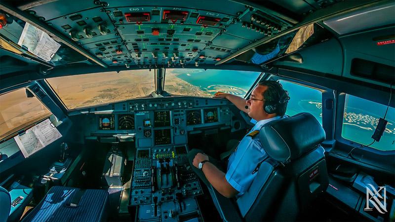 Airline Cockpit Photographs