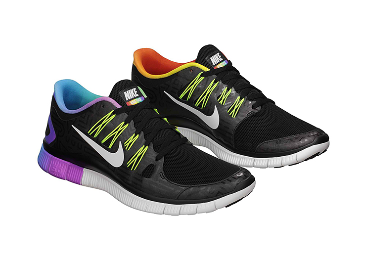 rainbow nike free runs
