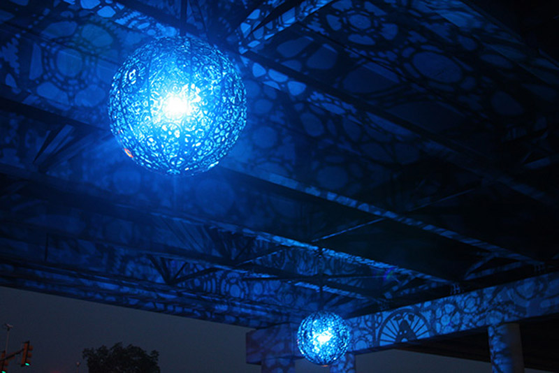 Recycled Bike Part Chandeliers