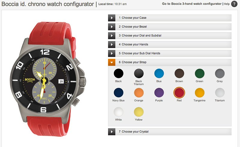 Boccia id watch configurator the awesomer for House configurator