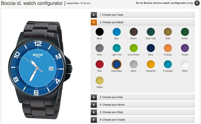 Boccia ID Watch Configurator