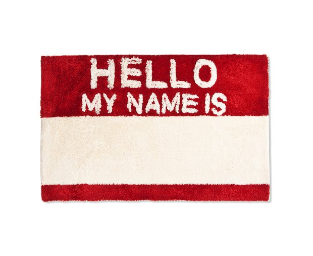 Hello My Name Is Rug