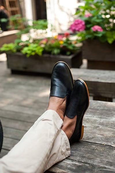 Kishtee Leather Slip-Ons