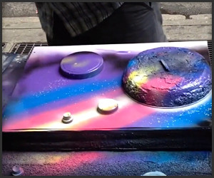 Surreal Spray Can Art