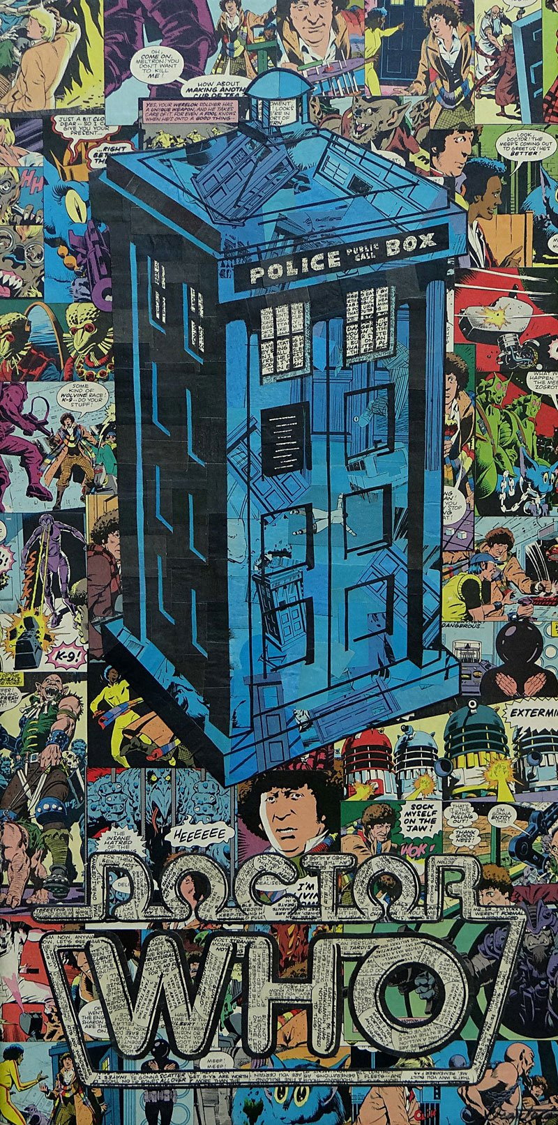 Recycled Comic Book Art
