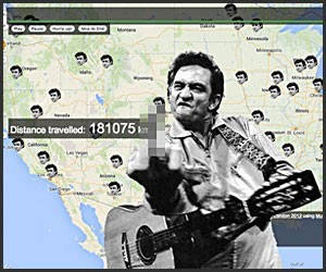 Johnny Cash Has Been Everywhere