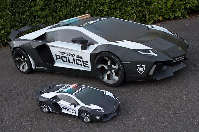 Papercraft Lamborghini Aventador