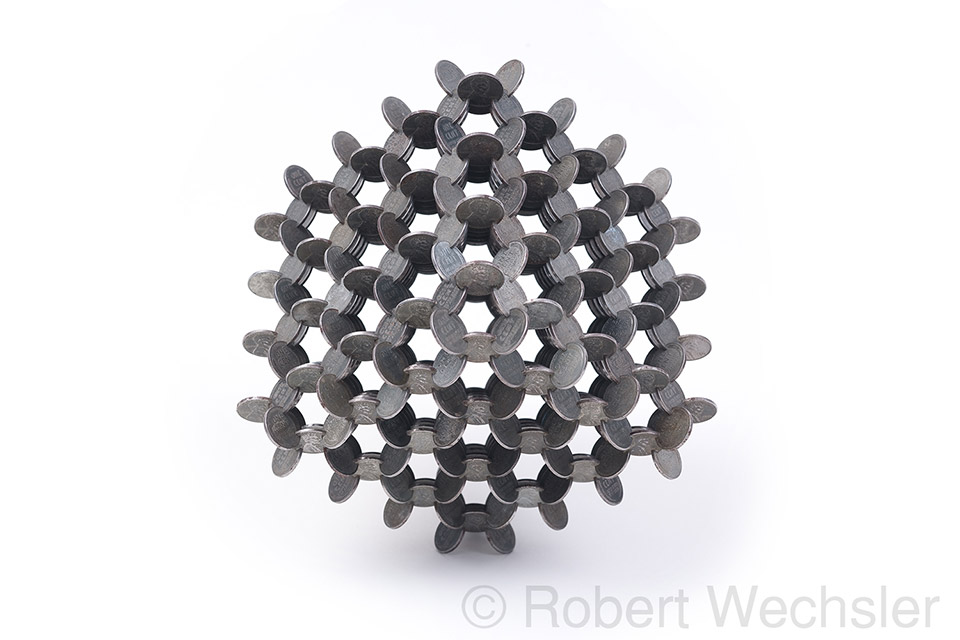 Geometric Coin Sculptures