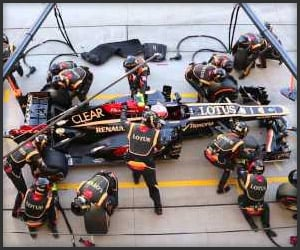 F1 Pit Stop Birds-Eye View