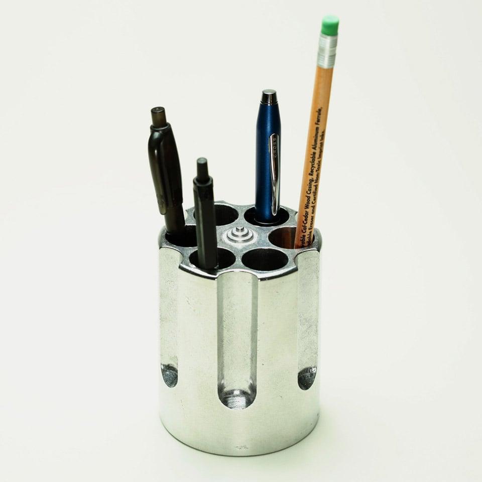 Gun Cylinder Pen Holder - The Awesomer