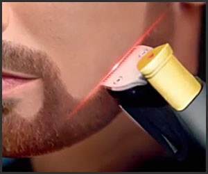 Laser-Guided Beard Trimmer