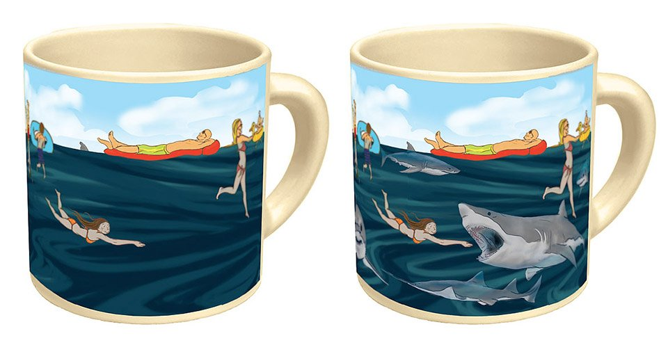Shark! Heat-Sensitive Mug