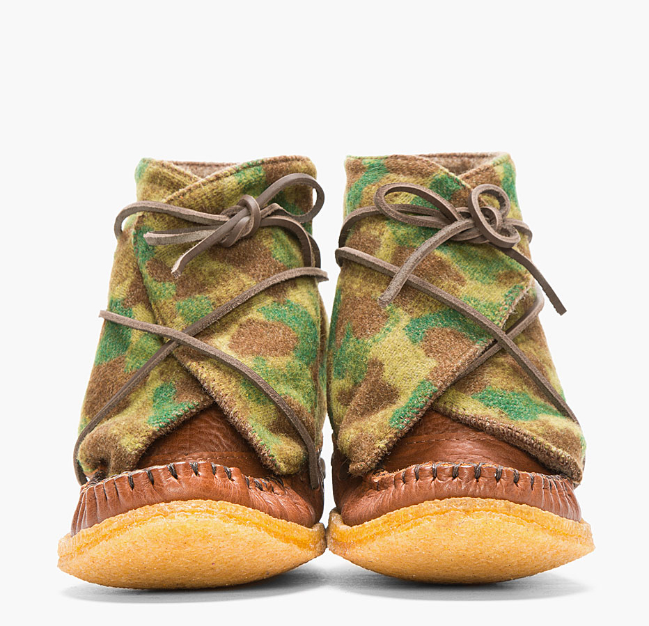 Camo Wool Moccasin Boots